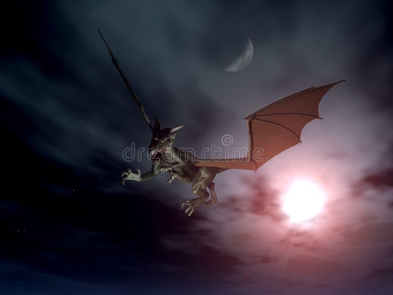Ataque 3 del dragón ilustración del vector