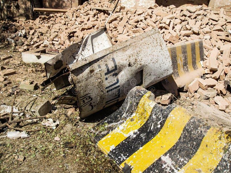 Ataque americano del consulado en Peshawar, Paquistán foto de archivo