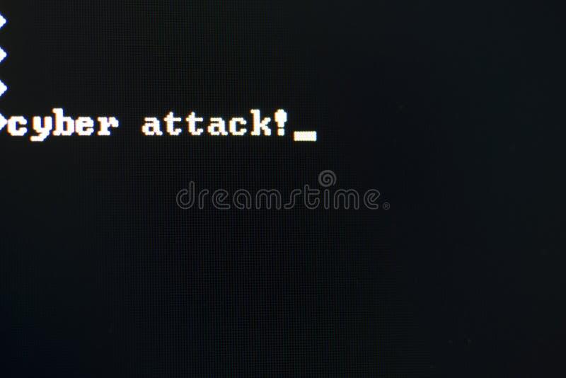 Ataque cibernético fotos de archivo libres de regalías