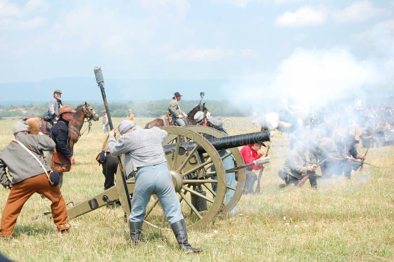 Ataque confederado del cañón fotografía de archivo libre de regalías
