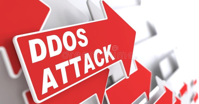 Ataque de DDOS.  Conceito da informação. ilustração do vetor