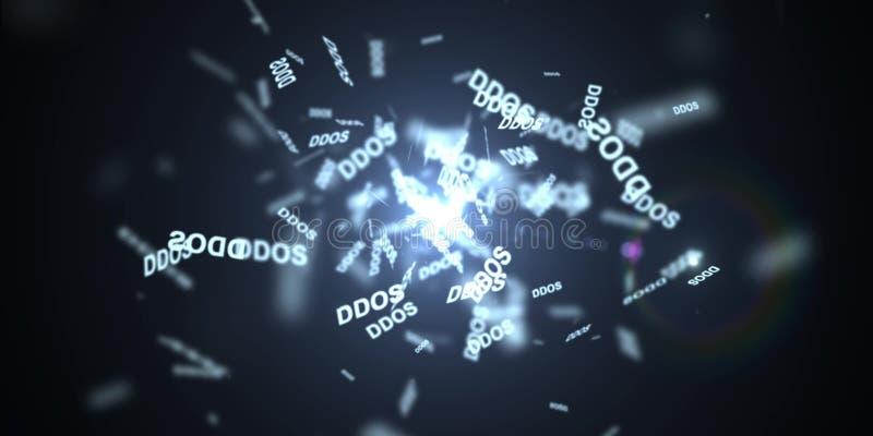 Ataque de DDOS, troyano de la infección, ataques del virus fotografía de archivo libre de regalías