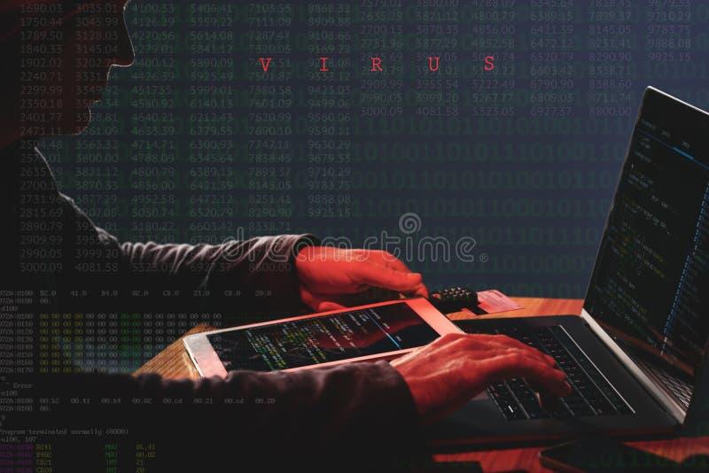 Ataque de la ciberdelincuencia fotos de archivo