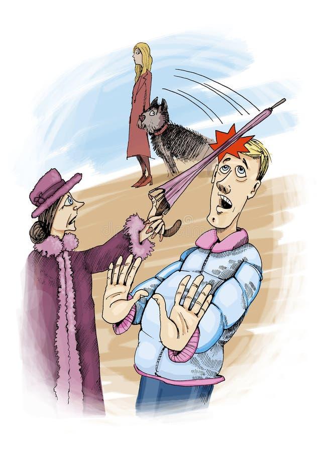 Ataque del paraguas libre illustration