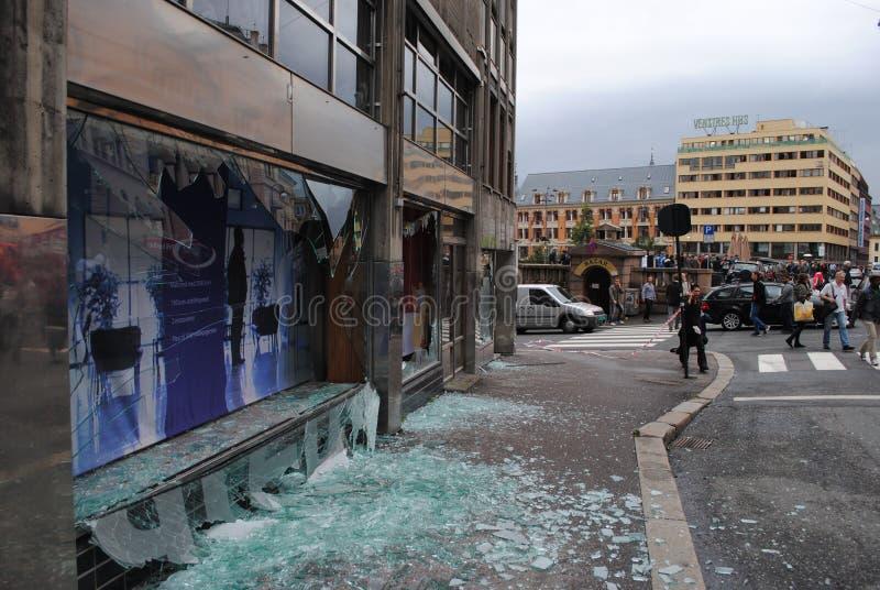 Ataque del terror en Oslo fotos de archivo libres de regalías