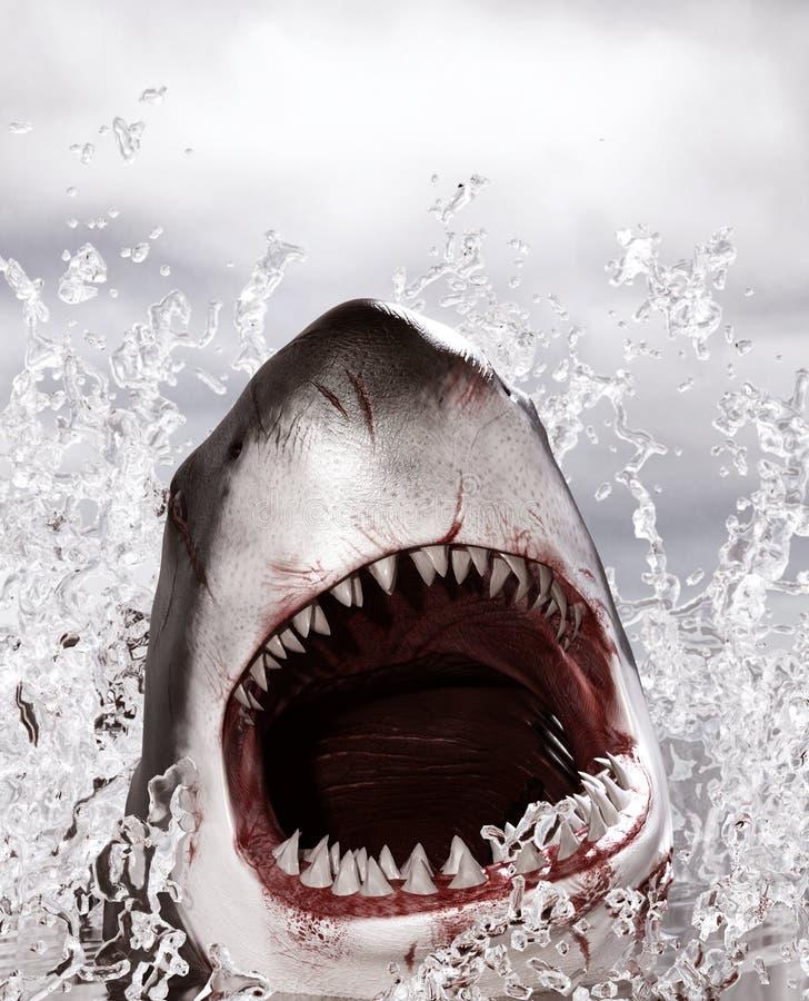 Ataque del tiburón libre illustration