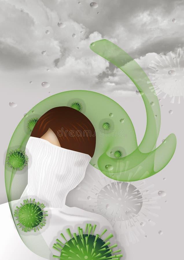 Ataque del virus de la gripe imagen de archivo libre de regalías