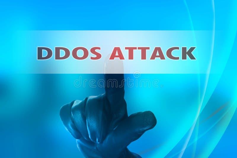 Ataque distribuido en línea de los servicios de la negación fotografía de archivo libre de regalías