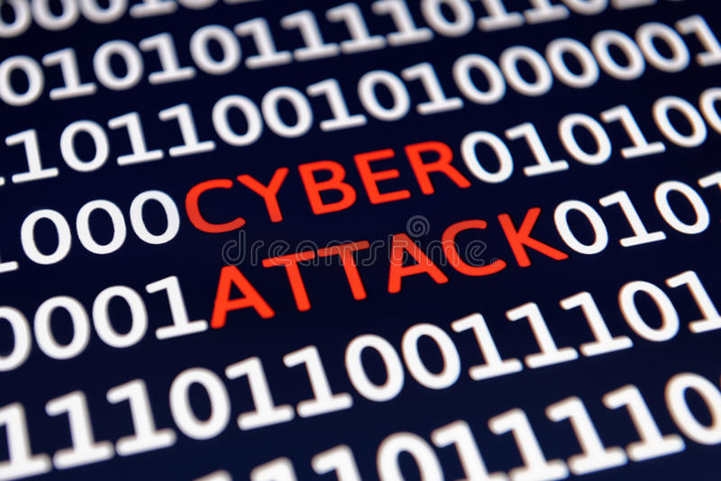 Ataque do Cyber imagem de stock