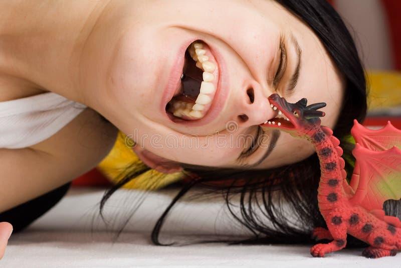 Ataque do dragão fotografia de stock