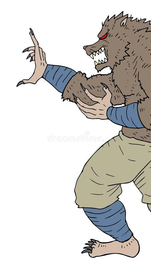 Ataque do monstro ilustração stock
