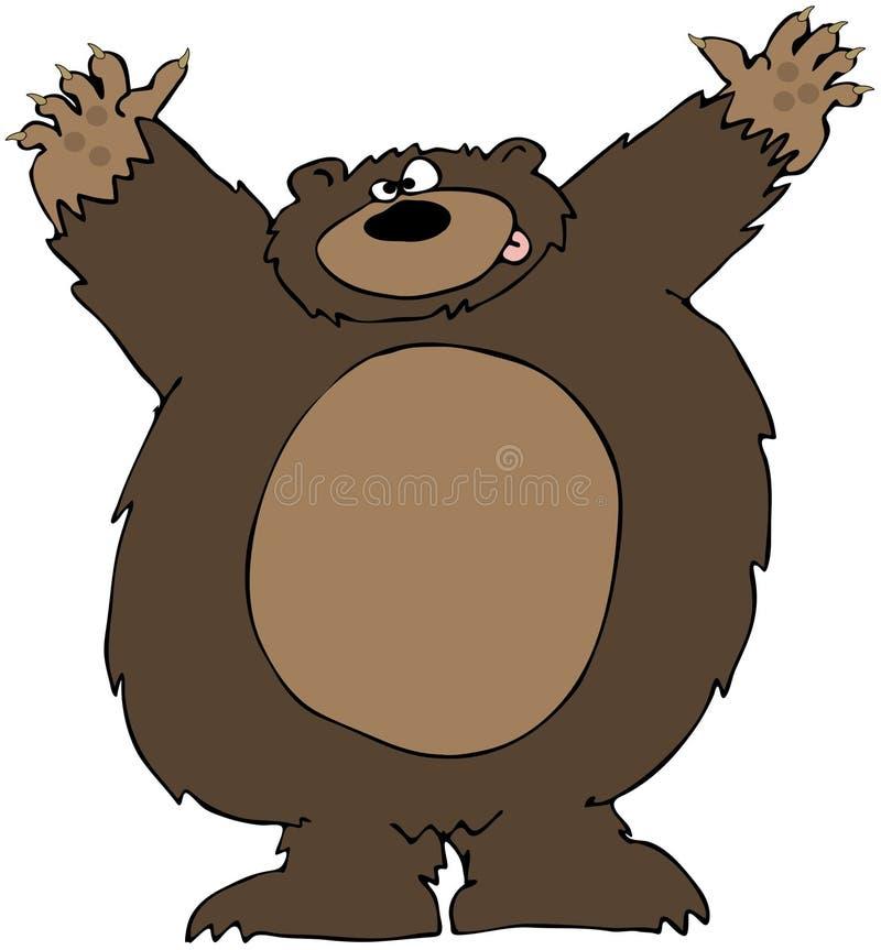 Ataque do urso ilustração stock