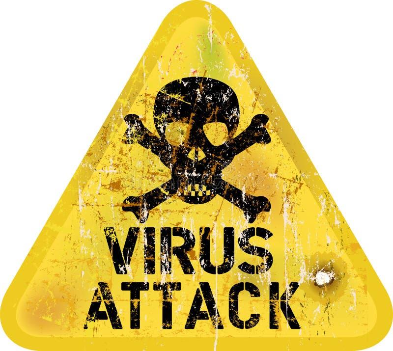 Ataque do vírus de computador ilustração do vetor