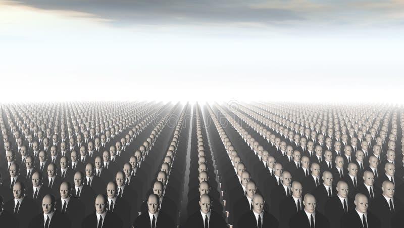 Ataque dos clone ilustração stock