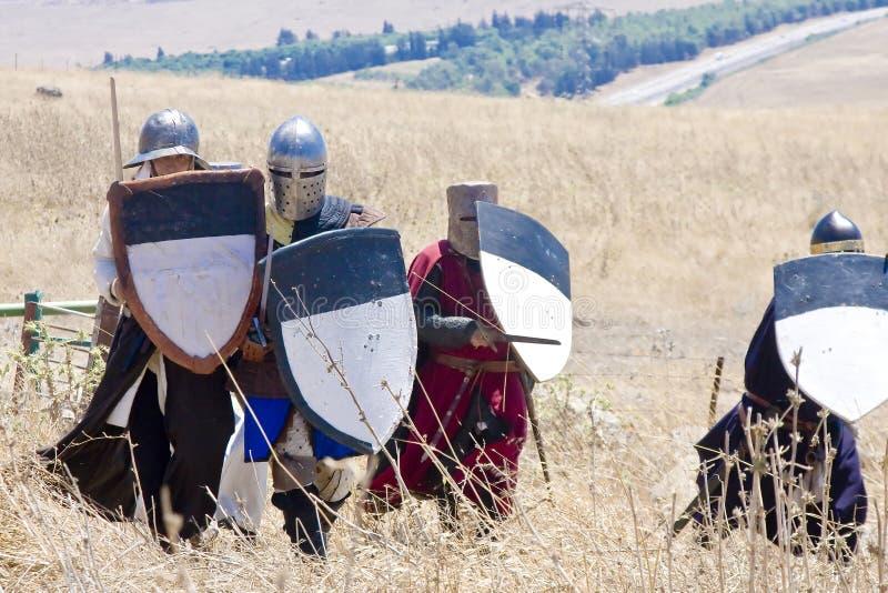Ataque dos cruzados foto de stock