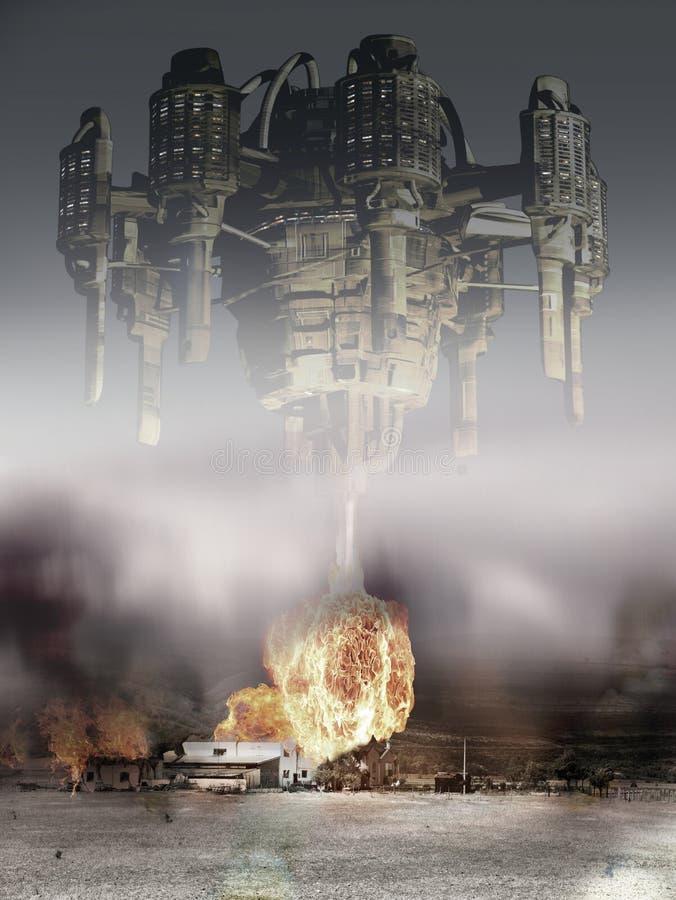 Ataque estrangeiro ilustração do vetor