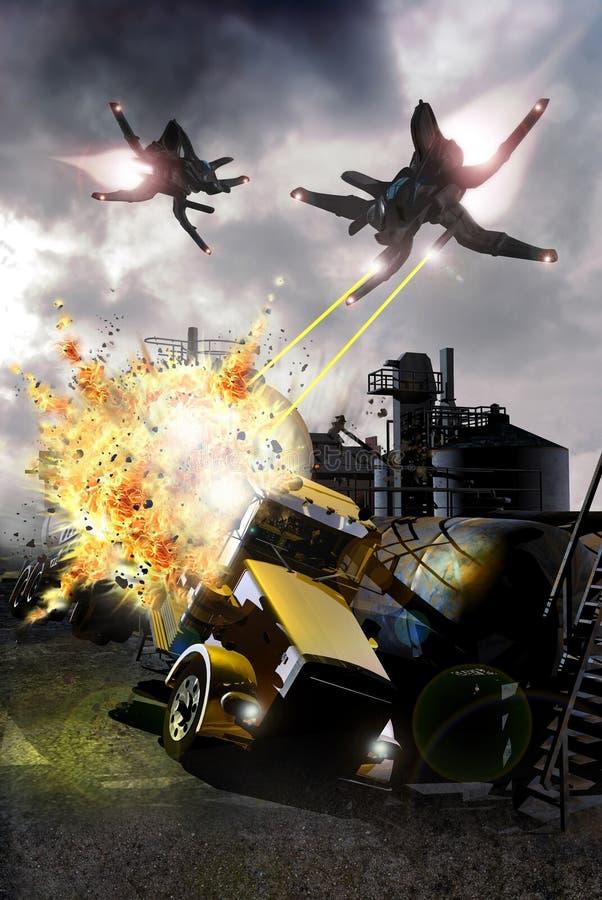 Ataque extranjero stock de ilustración
