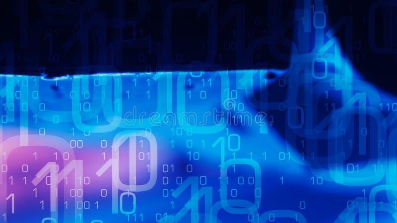 Ataque futurista del pirata informático en el sistema de seguridad cibernético, fondo de la nueva tecnología ilustración del vector