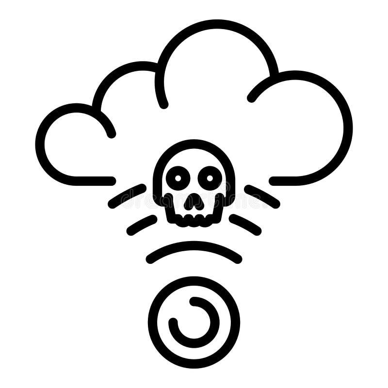 Ataque no ?cone da nuvem, estilo do hacker do esbo?o ilustração royalty free