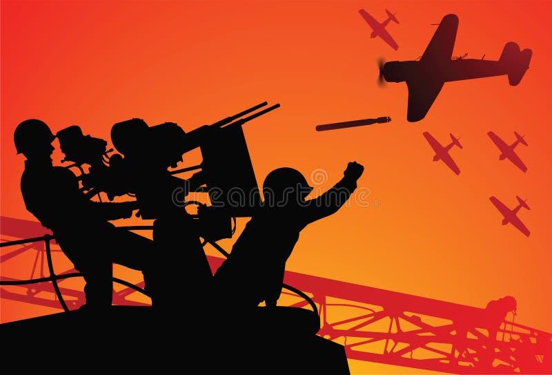 Ataque no Pearl Harbor ilustração royalty free