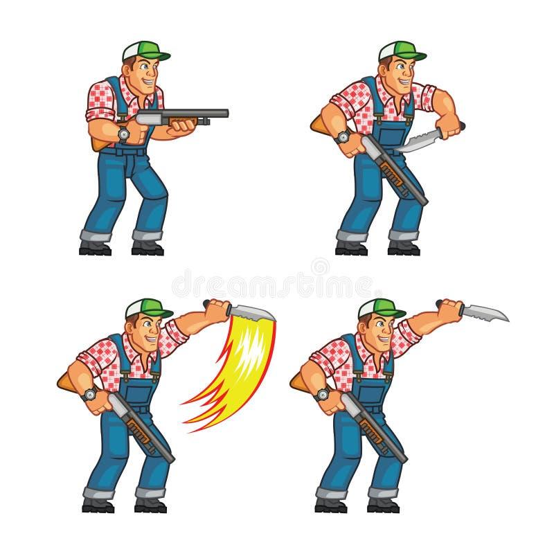 Ataque rojo Sprite del cuchillo del cuello libre illustration