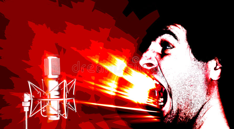 Ataque sano - posterize stock de ilustración