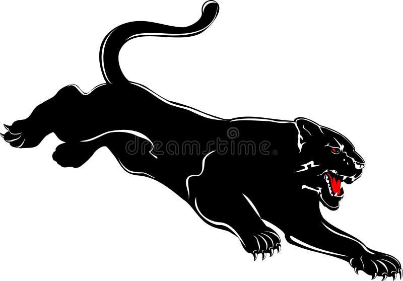 Ataques da pantera ilustração do vetor