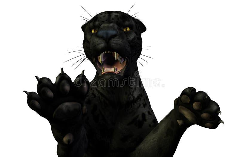 Download Ataques Da Pantera - Trajeto De Grampeamento Incluído Ilustração Stock - Ilustração de feline, estarrecer: 106155