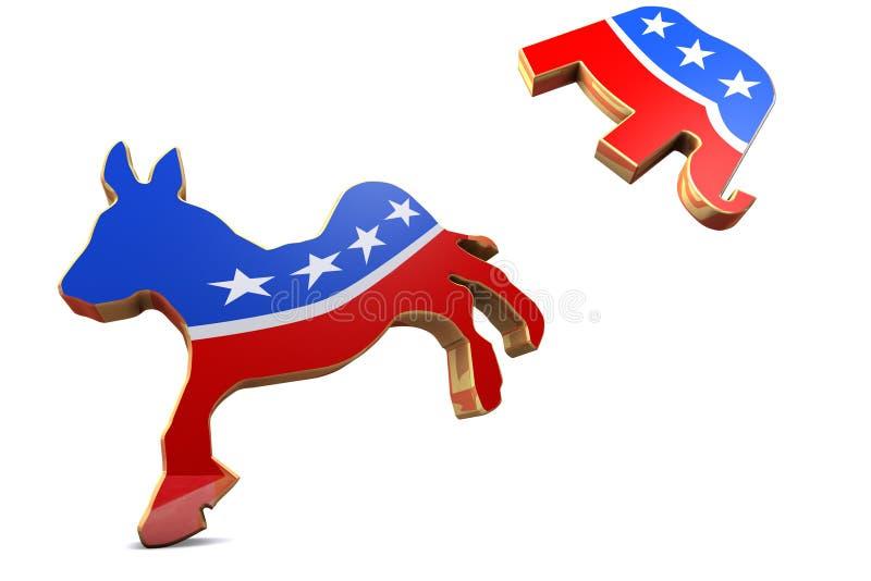 Ataques de Democrat stock de ilustración