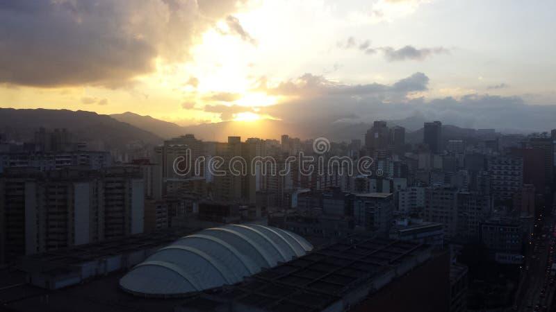 Atardecer, Caracas Centro images libres de droits