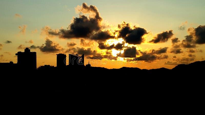 Atardecer en Acapulco fotografering för bildbyråer
