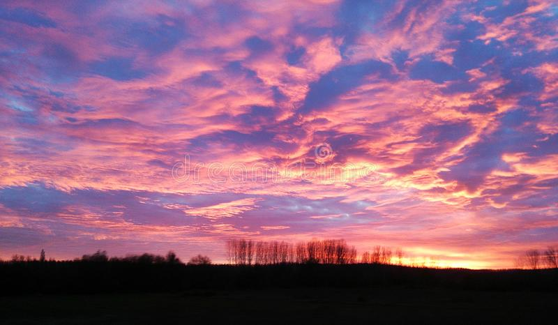 Atardecer royalty free stock images