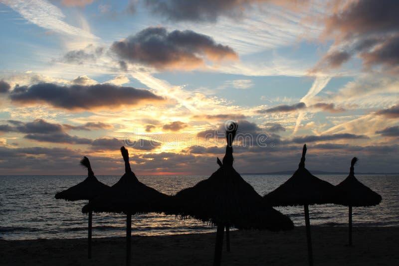 Atardecer en Palma de Mallorca obraz stock