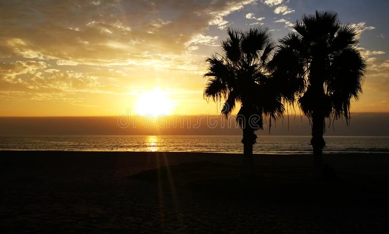 Atardecer Engelse Playa Chinchoro royalty-vrije stock afbeeldingen