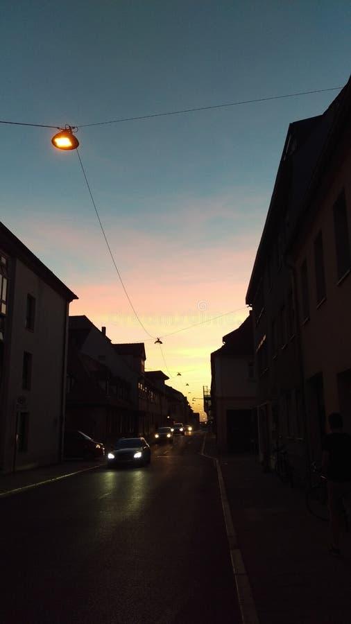 Atardecer Erlangen stock foto's