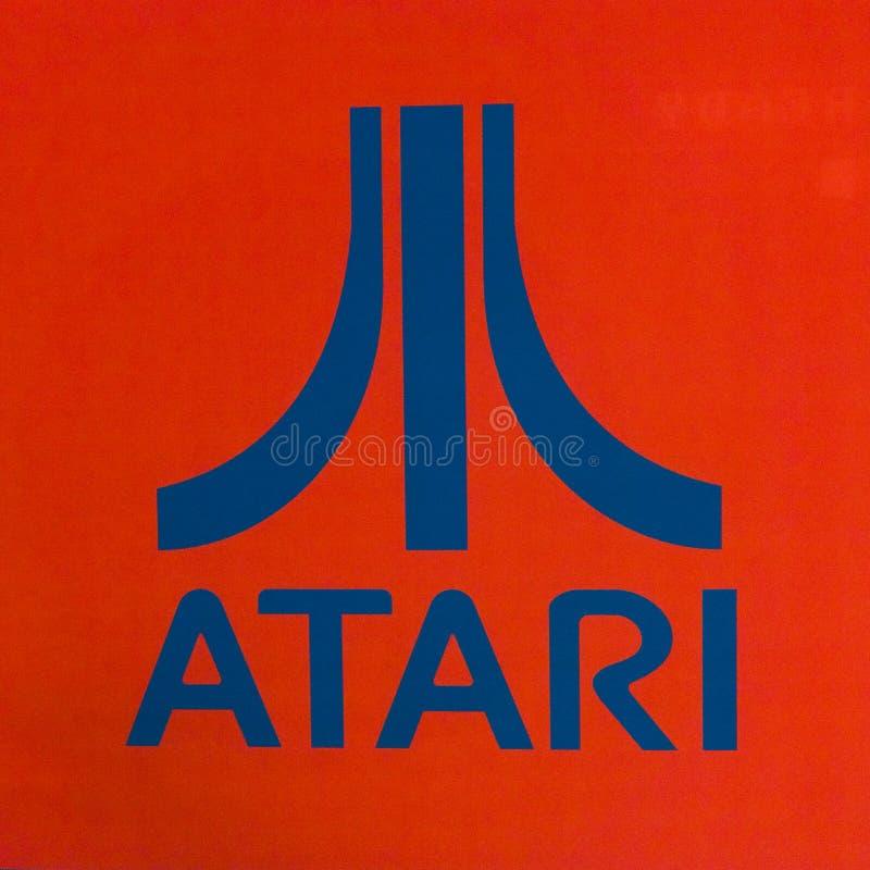 Atari计算机标志 库存图片