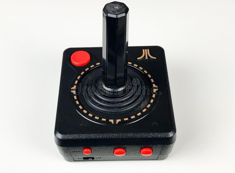 Atari styrspak royaltyfria bilder