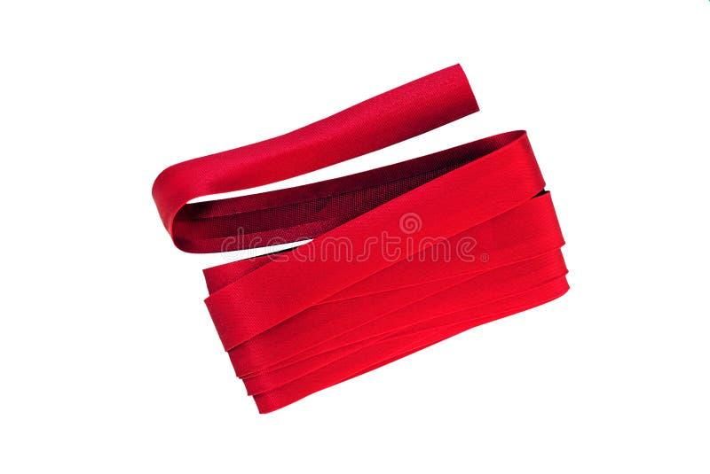 Atascamiento rojo de la costura fotografía de archivo