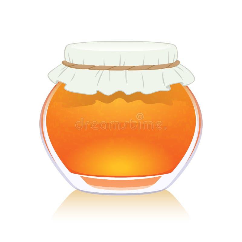 Atasco anaranjado en el tarro de cristal ilustración del vector