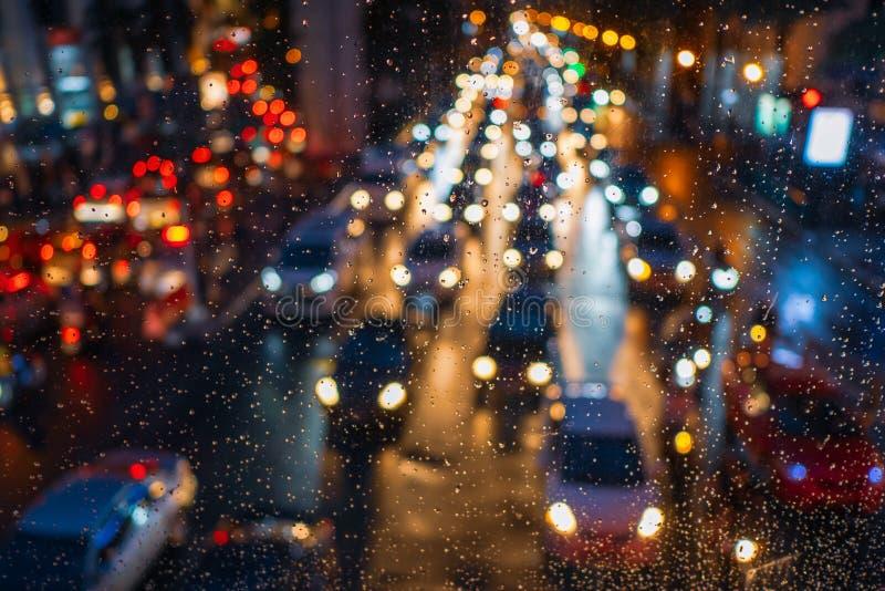 Atasco en día lluvioso foto de archivo libre de regalías