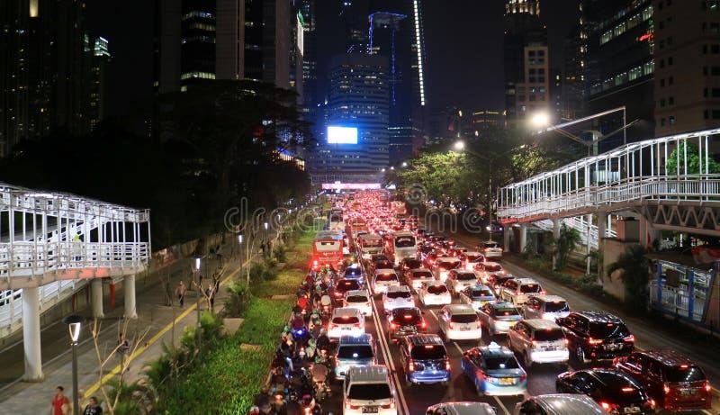 Atasco en Jakarta foto de archivo libre de regalías