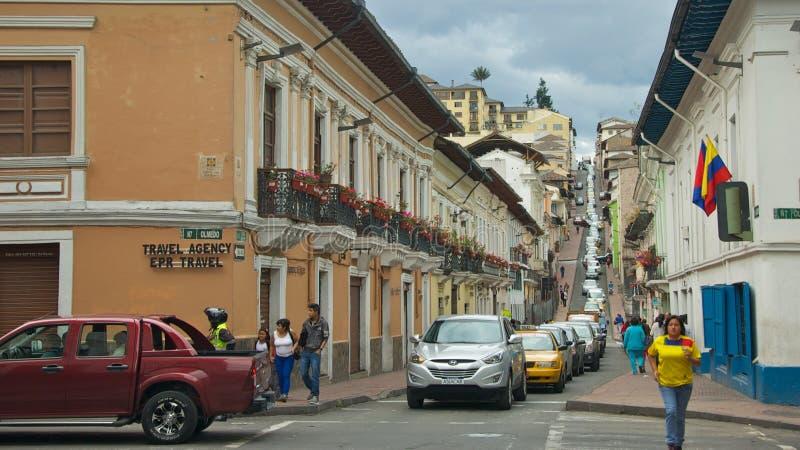 Atasco en Quito histórica foto de archivo