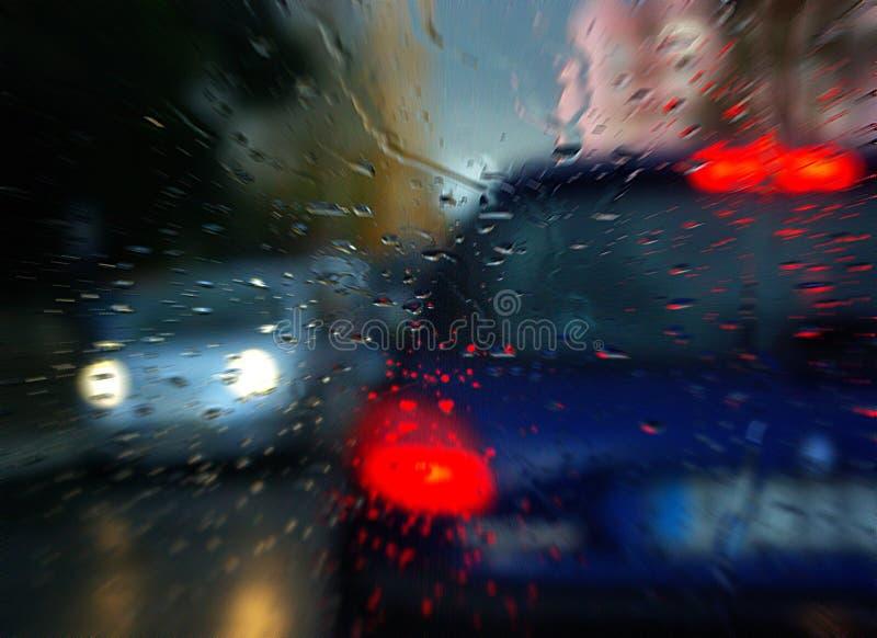 Atasco lluvioso fotografía de archivo libre de regalías