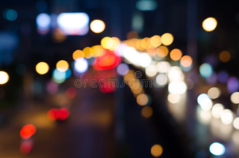 Atascos en la vida nocturna y la falta de definición de Bangkok fotografía de archivo