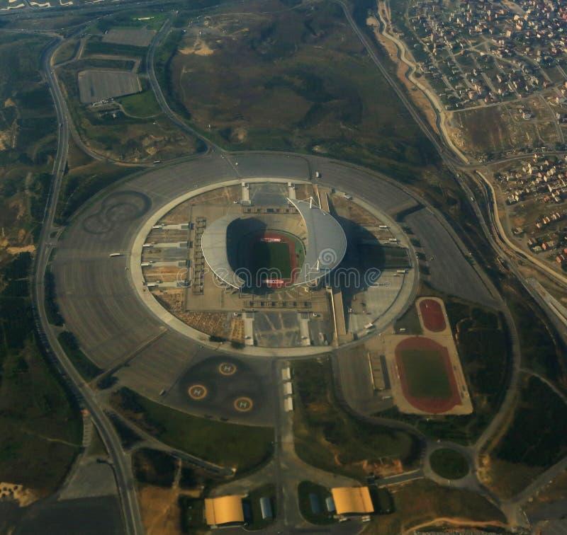 Atatü rk Olympisch Stadion Istanboel - Turkije stock foto