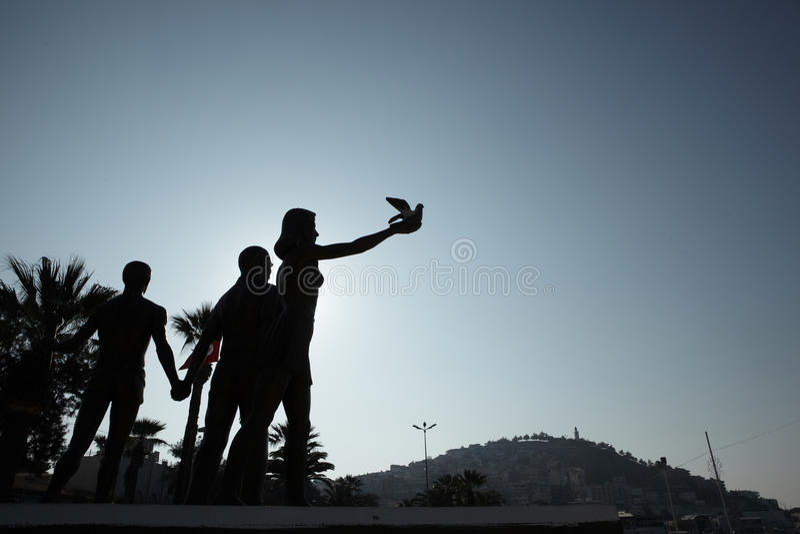 ataturk纪念碑和平 免版税库存图片