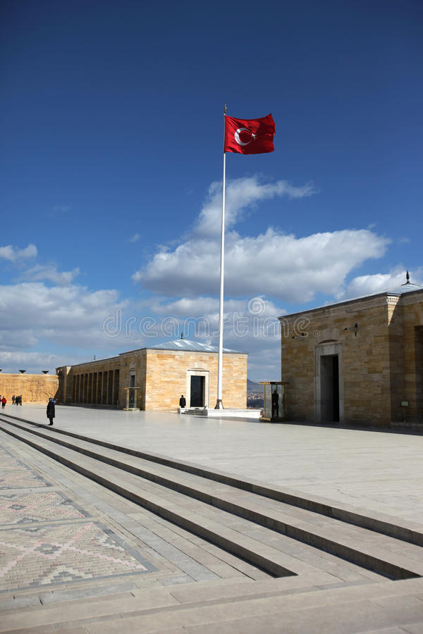 安卡拉, Ataturk -土耳其的陵墓 免版税库存图片