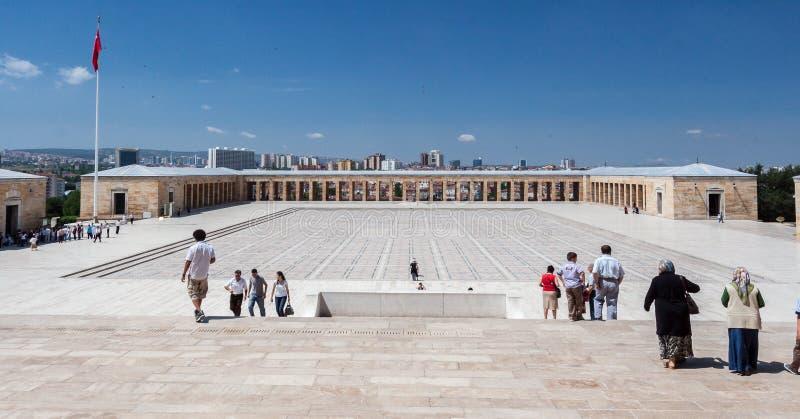 Ataturk陵墓安卡拉 免版税库存图片