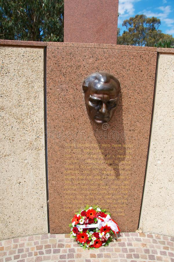 Ataturk-Denkmal in Canberra Australien lizenzfreie stockfotos