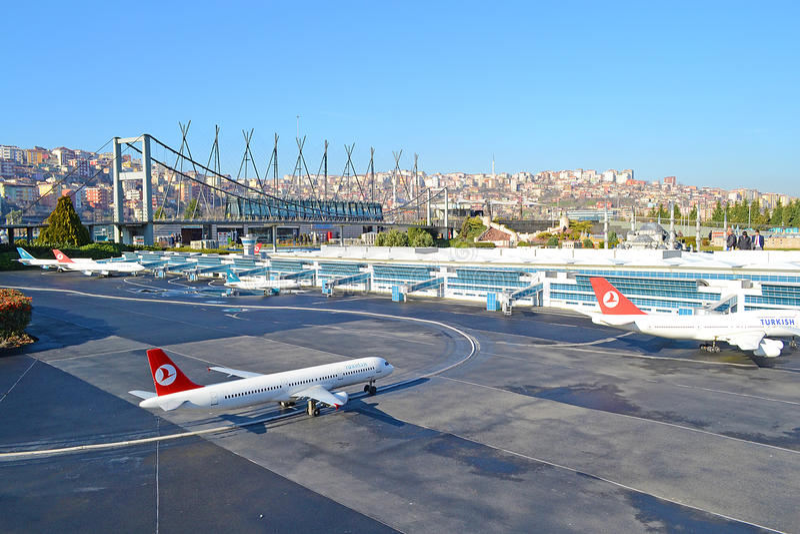 Ataturk International Airport. Miniature Of Ataturk International Airport stock photo